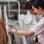 Women shopping for sustainable clothing